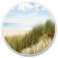 2 x Vinyl Stickers 10cm - Beautiful Beach Sand Dune Travel Sun Cool Gift #8387
