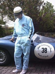 Dunlop Classic Race Suit 1950s Style Cotton Vintage Race Suit