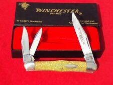 Vtg Winchester USA Knife GOLDSTONE Celluloid Split Back Whittler Knife W15 3071