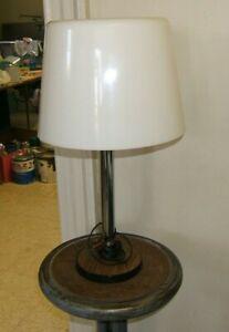 Mid Century Modern Lamp Table MCM Gerald Thurston Style Plastic Shade USA vtg