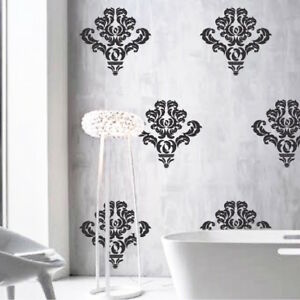 Damask Wall Accent Stickers Pattern Wallpaper Fancy Abstact Vinyl Design, e18