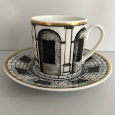 Rosenthal PALLADIANA Piero Fornasetti ESPRESSO CUP and Saucer Espressotasse