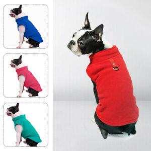 Pet Puppy Cat Dog Fleece Coat T-shirt Warm Jacket Vest Pet Dog  Apparel Clothes