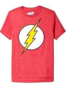 NWT Old Navy Superhero Boys DC Comics The Flash Lightning Bolt Tees T-Shirt NEW