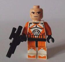 Mini Figura Lego Star Wars Clone Pack explosivos Naranja Trooper No Helmet R809