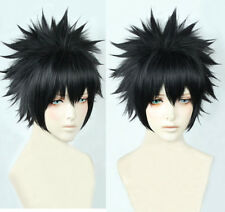 My Boku no Hero Academia 荼毘 Dabi Short Black Styled Cosplay Hair Wig + Cap