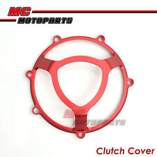 Red Ducati Billet Dry Clutch Cover Monster 620 750 900 ie 1000 1100 CC11