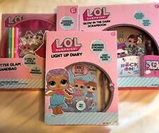 L.O.L Surprise Craft Light Up Diary Glam Handbag Glow In Dark Scrapbook Lot
