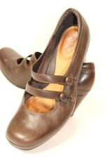 3554d2c98255 Clarks Artisan Womens Size 9.5 M Shoes Brown Leather Mary Jane Double Strap