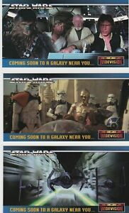1994 STAR WARS WIDEVISION PROMO TRADING CARDS SWP1-SWP3
