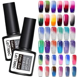 LEMOOC 8ml Smalto Gel UV Nail Polish Termico Cambiamento Di Colore Soak-Off Gel