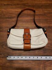 Coach Women's White Leather Handbag Purse