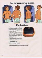 PUBLICITE ADVERTISING 045 1973 TERRAILLON pèse personne