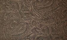 MILL CREEK DERANT SMOKE PAISLEY BROWN GOLD CHENILLE FURNITURE FABRIC BY YARD