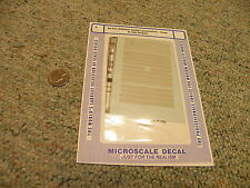 Microscale decals N 60- 644 Wabash diesel locomotive hood and cab stripes J45