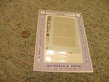 Microscale decals N 60- 644 Wabash diesel locomotive hood and cab stripes J45