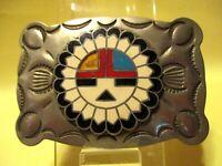 VINTAGE OLDER Indian Like Stampings with Round Design in Center Belt Buckle