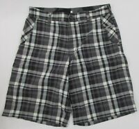 Lululemon Mens Gray Grey Plaid Active Golf Outdoor Hiking Walking Shorts Size 34