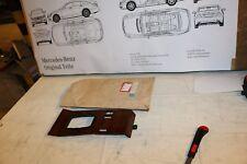 Mercedes W124 Holzblende Mittelkonsole Abdeckung Zebrano 1246804807 NEU NOS