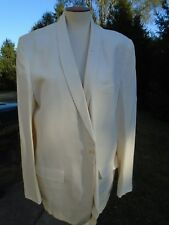 Vtg Mens suit 2 Pc Palm Beach White Dinner Jacket 1960s Mad Men Shawl Collar Mcm