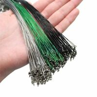 20pcs Anti Bite Steel Fishing Line Wire Leader With Swivel Fishing Accessory