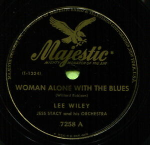 LEE WILEY (Woman Alone With The Blues / Sugar) JAZZ 78 RPM  RECORD