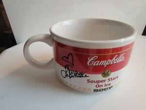 Vintage 1998 Signed Campbell's Soup Mug Michelle Kwan Tara Lipinski Nicole Bobek