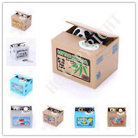 Cute Animal Automated Stealing Coin Money Box Piggy Bank Storage Saving Box New