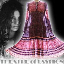 VINTAGE INDIAN DRESS 70s GAUZE 6 8 10 12 14 16 18 HIPPY ICONIC BOHO WEDDING POET