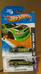 Hot Wheels LOT OF 2  CHEV,  70 CHEVELLE SS WAGON ,CHEVY IMPALA  NEW IN BOX