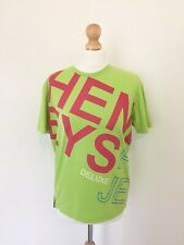 Henleys T Shirt 2 M Green Spell Out Graphic Premium Design Tee Top Pink Writing