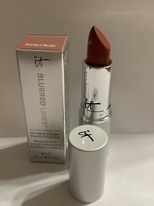 it Cosmetics Blurred Lines Smooth-Fill Lipstick PERFECT NUDE NEW