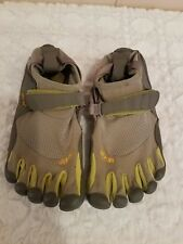 Vibram Fivefingers Shoes Size 38 Bikila Barefoot Running Gray Yellow 7-7.5