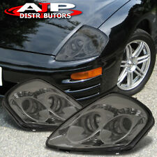 For 2000-2005 Mitsubishi Eclipse LED Dual Halo Projector Headlight Smoke Lens