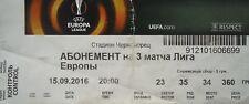 ABO TICKET UEFA EL 2016/17 Sorja Luhansk - Fenerbahce
