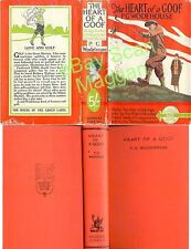 P G Wodehouse  THE HEART OF A GOOF  10th w/ ORIGINAL dj 1938 Golf