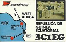 OLD VINTAGE 3C1EG EQUATORIAL GUINEA WEST AFRICA AMATEUR RADIO QSL CARD