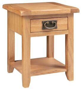 Small Oak Side Table | Narrow Wooden End/Lamp/ Bedside Cabinet | Nightstand