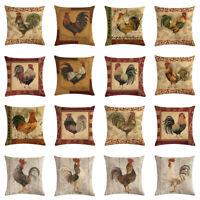 Cushion Cover Animal Cotton Linen Chicken Home Decor Car Sofa Throw Pillow Case