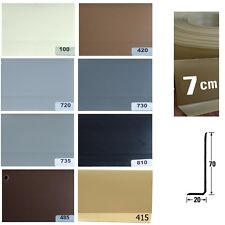 Musterstück / Warenprobe XL Weich PVC Sockelleiste Knick Profil 7 cm hoch
