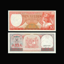 Suriname, 10 Gulden, 1963, P-121, UNC, Woman, fruit basket, BN261FXX