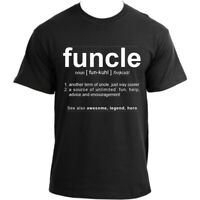 Funcle Uncle Gift Idea Novelty T Shirt Cool Very Funny Uncle T-shirts for Men
