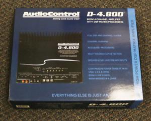 AUDIOCONTROL  800W 4-CHANNEL AMPLIFIER CAR AUDIO WITH DSP MATRIX PROCESS