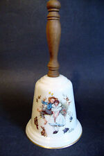 Norman Rockwell *Love's Harmony 1975* Gorham China Bell/ Wooden Handle - Mint