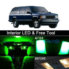 16x Green LED Lights Interior Package kit for 1995-1999 Chevy/GMC Suburban+Tool