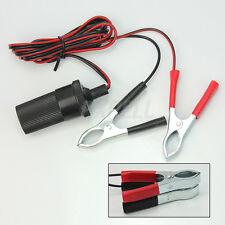 Pinze Coccodrillo Rosso Nero Clip Batterie 12V + Accendisigari Auto Cavo 1,585mt
