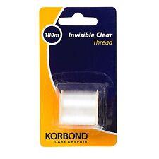 Korbond filati PER CUCIRE colorblend forte mulinello nylon trasparente invisibile Assistenza e Riparazione