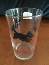 Vintage 1940's Scottie Scottish Terrier Juice Glass