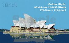 TOYBRICK - Build Your Own Custom Mosaic Art 96x144 or 144x96 STUDS -Colour Style