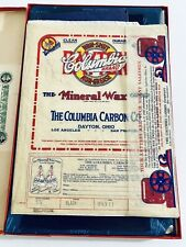 Vintage Columbia Brand Mineral Wax Carbon Paper Box